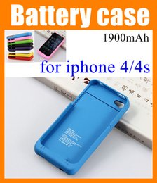 Wholesale External Battery Back Case - for iP4 iphone 4 4s iphone4 1900mAh battery back power banks charger case cover Cell Phone Chargers External Battery Case iphone BAC001