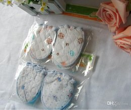 Wholesale Newborn Baby Hand Gloves - 2015 NEW 1SET of 2 pairs Winter warm cotton Gloves for Newborn Infant Baby Anti Scratching Gloves protect babies face and hands