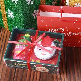 Wholesale Towel Cake Red - Creative Christmas Small Gift Cake Towel Kindergarten Event Promotions Saint Elderly Halloween Children's Gift Gift Box