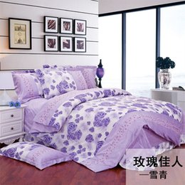 Wholesale Fl Cover - Wholesale-New arrival crystal velvet bedding set short plush thickening coral fleece thermal FL duvet cover bed sheet queen size king size