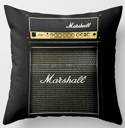 Wholesale Amps Electric - 2016 Customized Guitar Electric Marshall Amp Amplifier Special for Music Mania Cool Zippered Square Throw Pillowcase Cushion Case