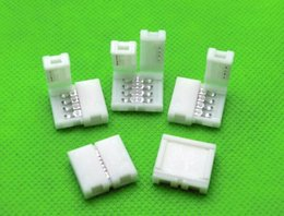 Wholesale 8mm Rgb Strip Connectors - 100pcs x 8MM 2PIN 10mm 4PIN 2PIN PCB Solderless Connector Adapter for SMD 5050 3528 RGB   Single Color LED Strip Light