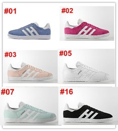 Wholesale Pop Fabric - 2017 Original Gazelle Vintage Casual Lovers Shoes Campus Pop Girl and Boy GAZELLE OG Flat Superstar Casual Sneakers