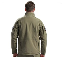 Wholesale Commander Military - Wholesale-Army Shark Skin Soft Shell Commander Tactical Military Jacket Outdoors Waterproof Sport Men Camouflage Hunting Hiking Jackets