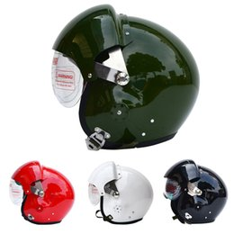 Wholesale Cool Air Force - Cool ! TK Chinese Military Air Force Jet Pilot Open Face Dual Lens Motorcycle Helmet & Visor SIZE L