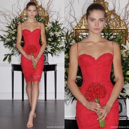 Argentina La envoltura roja corta informal de los vestidos de boda de la nueva llegada 2016 cupieron los vestidos atractivos del partido de cóctel de Lenth de la rodilla de las correas de espagueti del neckline del amor Suministro