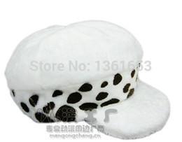 Wholesale Trafalgar Hat - Wholesale-Trafalgar Law Cosplay Hat beret halloween cosplay Anime One Piece Death Surgeon cosplay hat beret