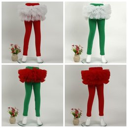 Wholesale Toddler Girls Tutu Leggings - 2018 toddler ruffle leggings tights tulle skirts pants kids cotton pant with tutus infant trousers girls boutique clothing baby legging cute