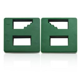 Wholesale Screwdriver Magnetizer - Screwdriver Magnetizer Demagnetizer Magnetic Tool Dual Tunnels Green 5pcs   lot 2015 Hot Sale Mini High Quality