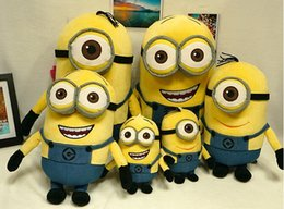 Wholesale Minion Christmas Dave - Fredd shipping Large minion 3D Doll,Despicable ME Movie,Plush Toy Minions,Jorge,Stewart,Dave for children
