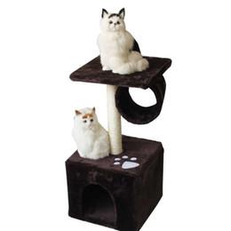 b946d2908a49c 2019 quadros de árvores Durável Cat Houses Com Aptidão Roller Corajoso  Corda de Cânhamo Gatos Escalada