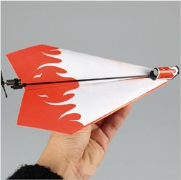 Wholesale Free Paper Airplane - Essential Power Up Electric Paper Plane Airplane Conversion kit Fashion Educational Toys Great Gift free shipping