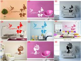 etiquetas da parede das fadas da flor Desconto DHL Mix 12 estilos Flor fada Adesivos de Parede home decor Quarto Casa Decalques Decoração Do Partido de Natal Arte Da Parede