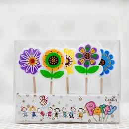 Wholesale Online Birthday Flowers - Romantic Color Art Candles MINI Flower Number Letters Cake Candle Decoration Kids Birthday Gift Online SD936