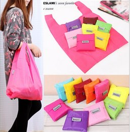 Wholesale Eco Reusable Shopping Tote Bags - 2017 Christmas gift Candy colorful Japan Baggu Reusable Eco Friendly Shopping Tote Bag pouch Environment Safe Go Green 50pcs DHL free