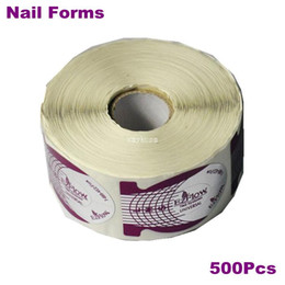 Wholesale Fishing Nail Art - 500pcs lot Fish Shape Form Nail Art Acrylic Tip Guide Extension UV Gel Nail Polish Styling Tools Nail Sticker Forms For Nail