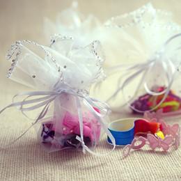 Подарочные пакеты из органзы круглые онлайн-круглый мешок конфеты мешок пряжи мешок золота круглый мешок подарка Organza венчание пользу партии 25cm диаметр новый
