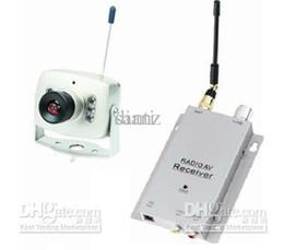 Wholesale Micro Cctv Wireless Camera - Wireless micro CCTV security mini pinhole A V audio surveillance RC Camera receiver 1.2ghz kit