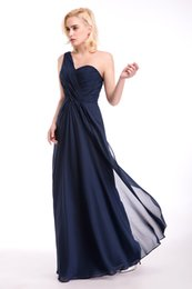 Wholesale Elie Saab Dresses For Party - Simple Design A Line One Shoulder elie saab Evening Dresses Pleats Hot Selling Cheap Prom  Party Dresses 2017 Long Gowns For Evening