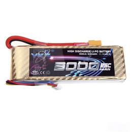 Wholesale Rc Helicopter Truck - High Power YKS Lipo Battery 11.1V 3000mah 25C MAX 40C XT60 Plug for RC Drift Car Boat Truck Airplane Helicopter Part order<$18no track