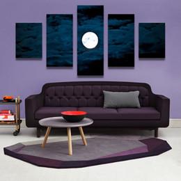 foto pintura lienzo Rebajas 5PCS Home Decor Canvas Wall Art Decor Painting LUNA EN LA NOCHE Wall Picture Canvas Art Print from Photo on Canvas para el hogar