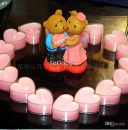 Wholesale Candle Making Free Shipping - Make An Offer Of Marriage Gift Love Bear With Heart Desgin Candles Free Shipping The Unique Desgin