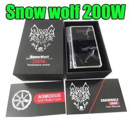 Canada ORIGINAL Snowwolf Snow Wolf 200W Boîte Mod TC mod E Cigarette 18650 batterie Contrôle de la température vs Sigelei 150w DHL Gratuit Offre