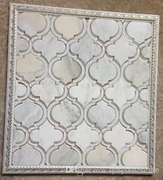 Azulejos de mosaico de vidrio mosaico de mármol decoración del hogar baño revestimiento de la pared mosaico de vidrio decoración de la pared piedra mosaico patrón de materiales de construcción desde fabricantes
