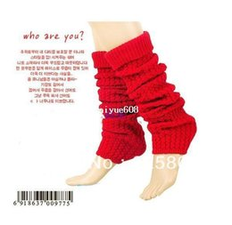 Wholesale Dark Purple Gloves - HOT!!! New style Holiday Sale Free Shipping Women's Ladies Knit Stripe Leg Warmers Stocking Socks Legging Finger Gloves CZ-1