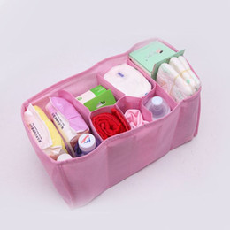 Wholesale Diaper Water - Baby Portable Diaper Nappy Water Bottle Changing Divider Storage Organizer Bag Drop Shipping BB-151