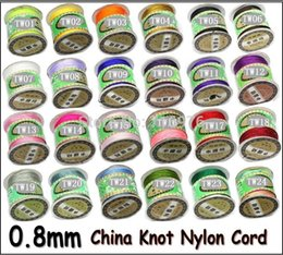 Wholesale nylon knots - Wholesale AA++ Quality!!! 135yards x 0.8mm Nylon Chinese Knot Cord Rattail Satin Jewelry Beading Thread