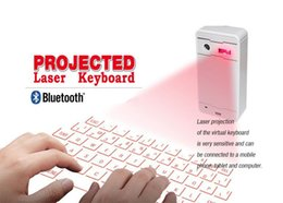 Wholesale Laser Projection Keyboard For Ipad - 2015 new products wireless bluetooth virtual laser projection keyboard for iPad via usb for tablet pc smartphone iPhone ios andriod system