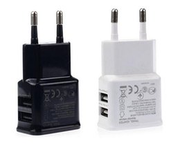 Wholesale S3 Home Charger - 5V 2A Dual USB EU US Plug Home Wall Charger Power Adapter For iPhone 4 5 6 Samsung Galaxy S3 S4 S5 S6