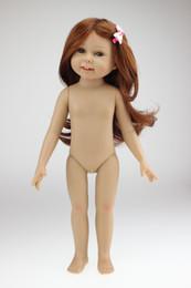 Wholesale Naked Dolls - 18 inch Naked Full Vinyl Girl Doll Dress Up Dolls Toys Same as American Girl Doll