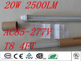 Wholesale T8 High Lumen Led Tubes - Free shipping super bright high lumen led tube t8 1200mm 1.2m 4ft 18w 20w 22w led fluorescent tube light bulbs AC85-277V CE ROHS UL FCC