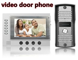 "Wholesale Wired Intercoms - smart home intercom system with video recording and 1 4""CMOS 700TVL door bell"