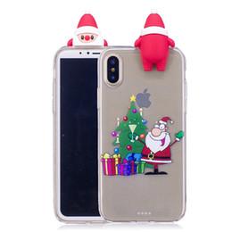 2019 natal iphone santa Capa para iphone 5s 5se 6 s 7g 8 plus x huawei p8 p9 p10 lite 2017 tpu soft case silicone meias de natal de plástico santa claus capa desconto natal iphone santa