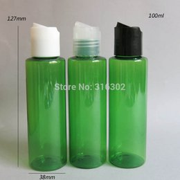 Wholesale Clear Plastic Pet Containers - Free shipping - 30 lot 100ml DIY clear pet plastic bottle, 100ML Pet bottle with disk cap,100cc cream bottle,cosmetic container