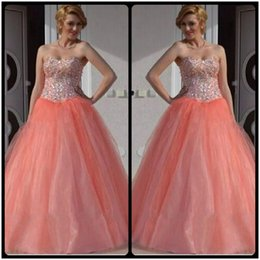 Wholesale Sexy Girls Dressed Princesses - Pretty Puffy Dresses for Sweet 16 Sixteen Princess Quinceanera Dresses masquerade Ball Gowns for Girls