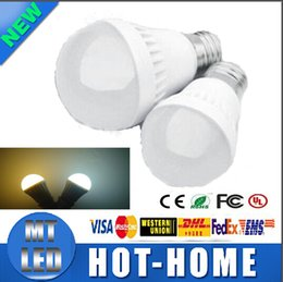 Wholesale 7w Energy Saving Bulb - Ultra bright LED E27 Globe Bulbs 3W 5W 7W 9W SMD 2835 LED bulbs Light Warm Pure White Light Bulb Energy-saving ball Light