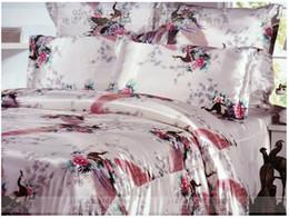 Wholesale Wholesale Comforters Sets - Wholesale-8pcs Silk satin comforter bedding sets California king quilt duvet cover brand sheets bed bedsheet queen size bedspreads linen