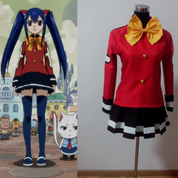 Wholesale Wendy Marvell Cosplay - Wholesale-Anime Fairy Tail Wendy Marvell Cosplay Costume Custom Made