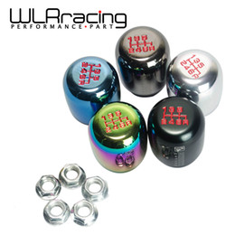 Wholesale Neo Silver - 6 Speed (M10*1.5) Racing Six Speed Car Shift Knobs SILVER,BLACK,BURNING,TITANIUM,NEO CHROME PQY-SKSK06