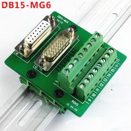 Wholesale Dual Din - DB15 D Sub Terminal Block Breakout Board DIN Rail Type Dual Function