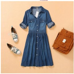 Wholesale Wool Shirt 4xl - Spring and Summer New Arrival Plus Size Women Clothing, Female Fashion Loose Casual 4XL Denim Dr