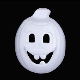 Wholesale pumpkin painting - Pumpkin Unpainted White Mask Full Face Environmental Paper Pulp Adult DIY Blank Fine Art Painting Masquerade Party Masks 10pcs lot