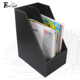 Wholesale Container Business - Business Office File Box Desktop Storage Box Office tools Organizer Container Case book holder Desktop finishing holder q171126