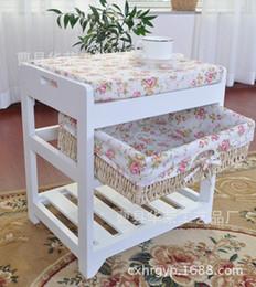 2019 amerikanisches möbel schlafzimmer Rustikaler einzelner Schemel, der seinen Schuhschemelart- und weisennostalgie-Retro- ankleidender Schemelbettendenschemel-Speicherschemel ändert