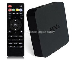 Wholesale Channel Player Android - Original Online Update MXQ TV BOX Amlogic S805 Quad Core Android 4.4.2 Airplay TV Channels Programs Media Player Rooted In Stock DHL Free