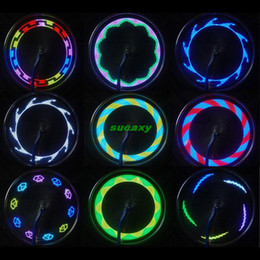 Wholesale Tire Spoke Light - Hot Selling Bike Lights 14 LED Motorcycle Cycling Bicycle Bike Wheel Signal Tire Spoke Light 30 Changes Bicycle Accessories Free Shipping